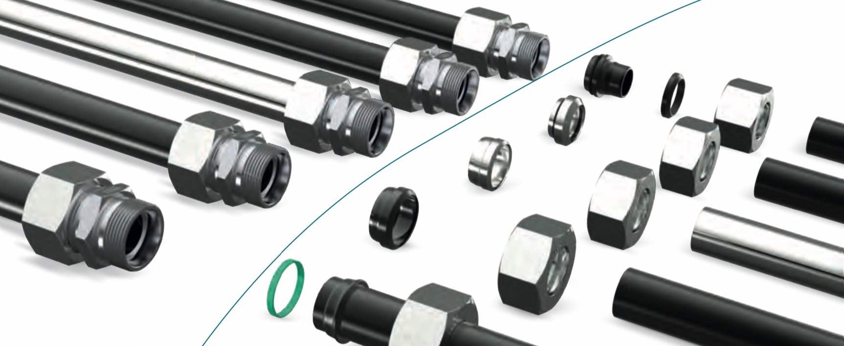 Гидравлические трубы и трубные соединения