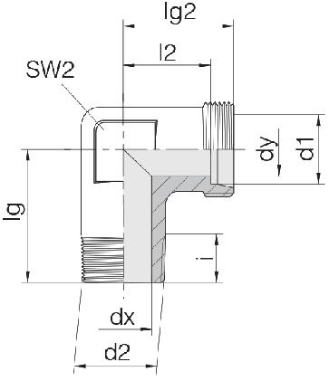 Соединение для труб штуцерное угловое 24-SDE-L8-M12T-P