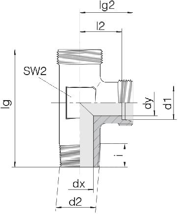 Соединение для труб штуцерное тройник 24-SDL-LL8-R1/8T-P