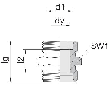 Соединение для труб проходное прямое 24-S-LL5