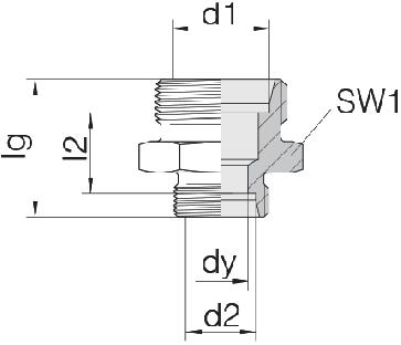 Соединение для труб переходное прямое 24-S-L8-L6