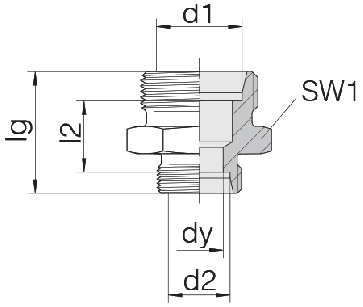Соединение для труб переходное прямое 24-S-S12-S10