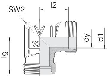 Соединение для труб проходное угловое 24-E-LL4-P