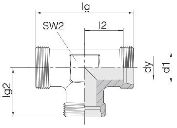 Соединение для труб проходное тройник 24-T-LL4