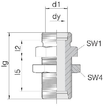 Соединение для труб переборочное прямое 24-BHSLN-L6