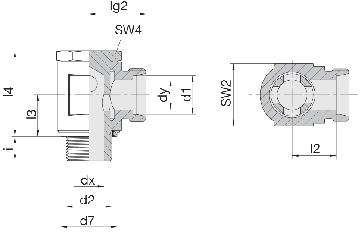 Соединение для труб поворотное угловое 24-BSE-S6-G1/4E