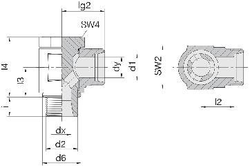 Соединение для труб поворотное угловое 24-BCE-L10-G1/4B