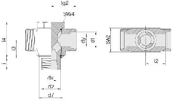 Соединение для труб поворотное Т-образное 24-BCT-S10-G3/8E-P