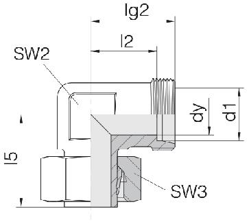 Соединение для труб регулируемое угловое 24-SWE-S6