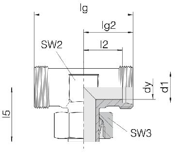 Соединение для труб регулируемое Т-образное 24-SWT-S10