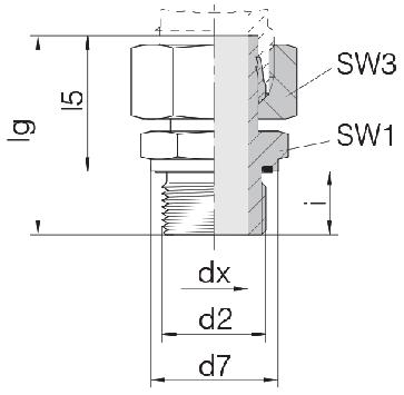 Соединение для труб штуцерное прямое с гайкой 24-SWSDS-S10-M16E