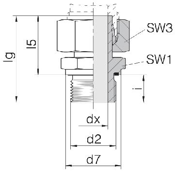 Соединение для труб штуцерное прямое с гайкой 24-SWSDS-S10-G1/4E
