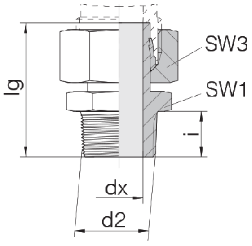 Соединение для труб штуцерное прямое с гайкой 24-SWSDS-L10-N1/4T