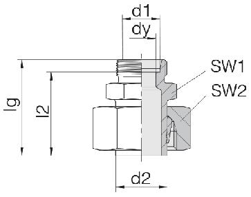 Соединение для труб переходное прямое с предварительно монтированной гайкой 24-SWS-S12-L12