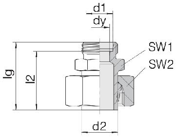 Соединение для труб переходное прямое с предварительно монтированной гайкой 24-SWS-S30-S14