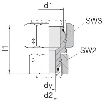 Соединение для труб переходное прямое с двумя гайками 24-SW2OS-S8-S6-CP1