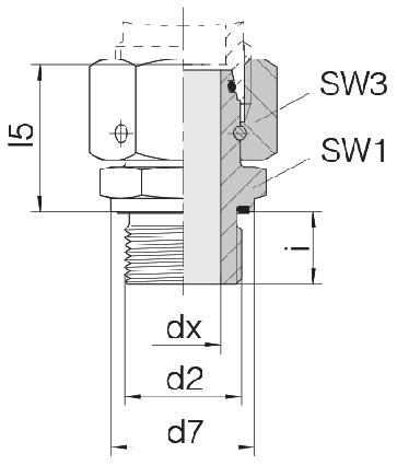 Соединение для труб штуцерное прямое с кримпованной гайкой 24-SWOSDS-L10-G1/2E