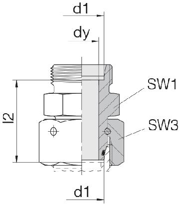 Соединение для труб проходное прямое с кримпованной гайкой 24-SWOS-S10