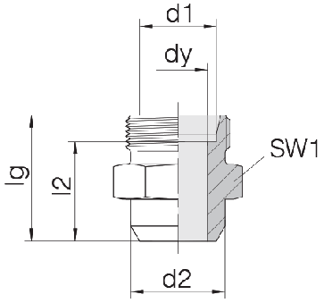 Соединение для труб под сварку прямое 24-WDS-S6-C00