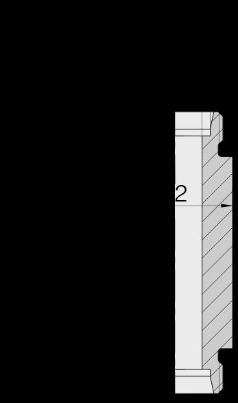 Соединение для труб переборочное прямое под сварку  24-WDBHS-L12-C00