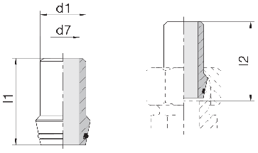 Ниппель приварной с уплотнительным кольцом 24-WDNPSO-10x2-C10