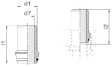 Ниппель приварной с уплотнительным кольцом 24-WDNPSO-14x2-C10