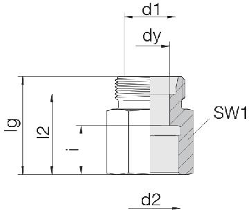 Соединение для труб переходное прямое 24-S-S6-IM12