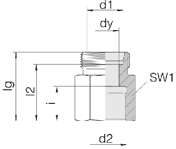 Соединение для труб переходное прямое 24-S-S12-IG3/8