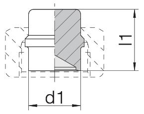 Заглушка на трубу с уплотнительной кромкой 24-PLB-S14