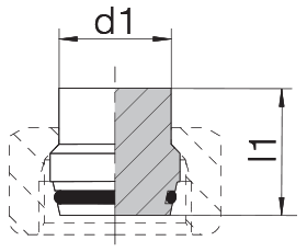 Заглушка на трубу с уплотнительным кольцом 24-PLO-L/S10