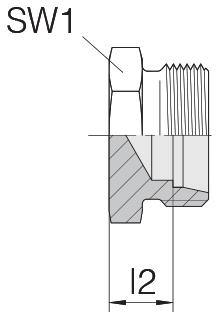 Заглушка на трубу с резьбой 24-TBS-S14