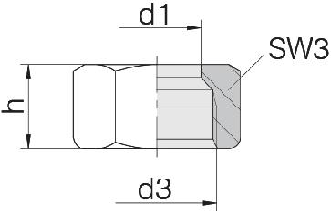 Гайка накидная 24-N-S12-SST