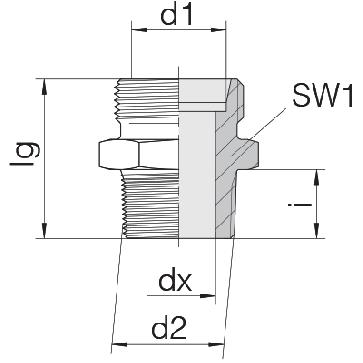 Соединение для труб штуцерное прямое коническое 24-SDS-L8-N1/8T