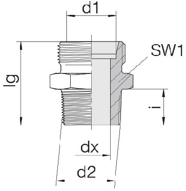 Соединение для труб штуцерное прямое коническое 24-SDS-S10-N3/8T