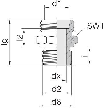 Соединение для труб штуцерное прямое коническое 24-SDS-S30-G1B