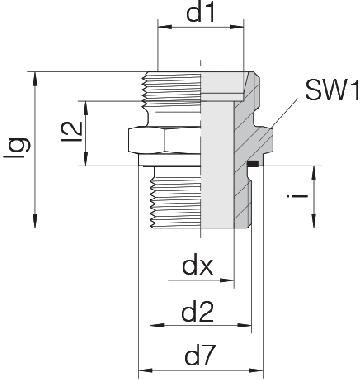 Соединение для труб штуцерное прямое коническое 24-SDS-L12-M22E