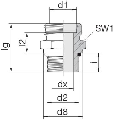 Соединение для труб штуцерное прямое коническое 24-SDS-L15-U11/16-12F