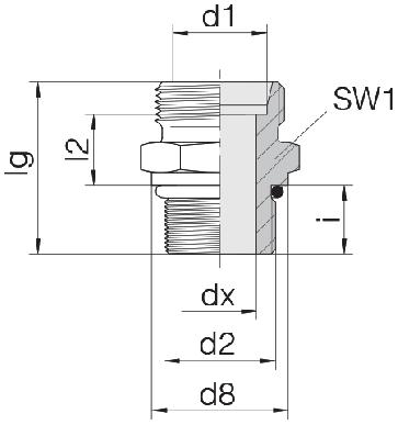 Соединение для труб штуцерное прямое коническое 24-SDS-S12-U7/8-14F