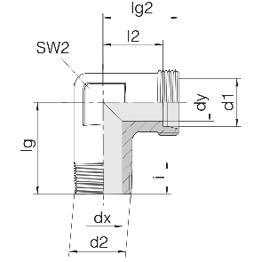 Соединение для труб штуцерное угловое 24-SDE-LL4-M6T
