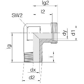 Соединение для труб штуцерное угловое 24-SDE-LL4-R1/8T