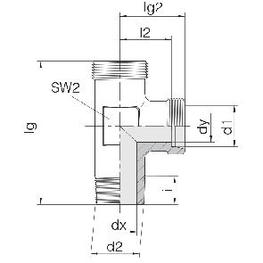 Соединение для труб штуцерное тройник 24-SDL-LL4-M8T