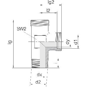 Соединение для труб штуцерное тройник 24-SDL-LL4-R1/8T