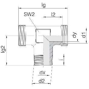 Соединение для труб штуцерное тройник 24-SDT-LL4-M8T