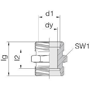 Соединение для труб проходное прямое 24-S-LL4