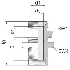 Соединение для труб переборочное прямое 24-BHSLN-L28