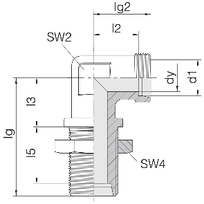 Соединение для труб переборочное угловое 24-BHELN-S16