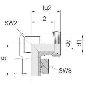 Соединение для труб регулируемое угловое 24-SWE-L6