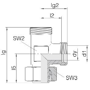 Соединение для труб регулируемое L-образное 24-SWL-L6