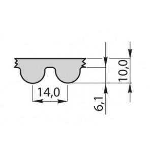 Ремень приводной  зубчатый полиуретановый 1092-14M-70