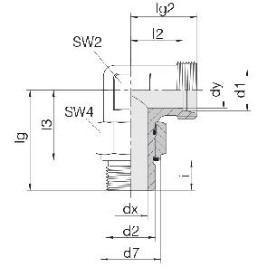 Соединение для труб регулируемое угловое с контргайкой 24-SDAE-L6-G1/8E